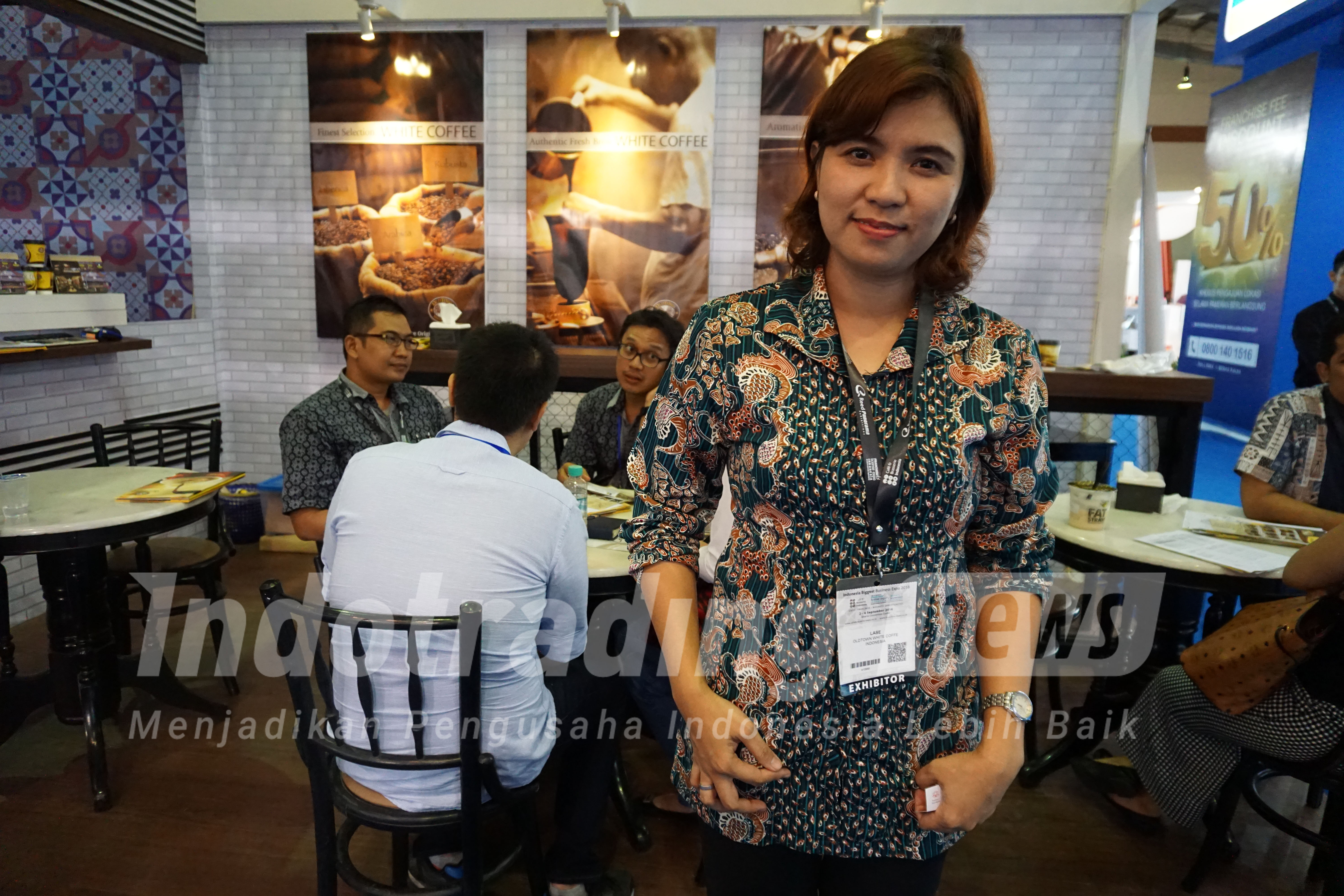 Foto: Marketing and Business Development Manager Oldtown White Coffee Master of Indonesia Lase Agusnur/Dok: indotrading.com