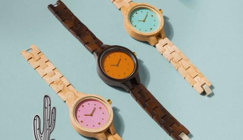 jam tangan kayu woodka