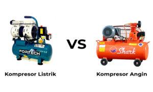 perbedaan kompresor listrik dan angin