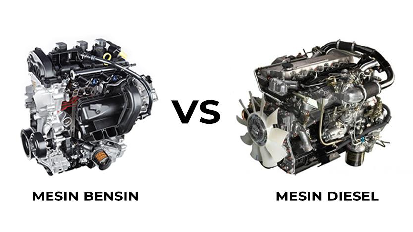 perbedaan mesin diesel dan bensin