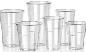 ukuran gelas plastik