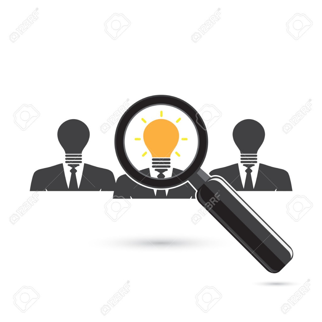Search for an employee. Looking For Positive thinker. Looking For Talent. Search for businessman. Vector illustration