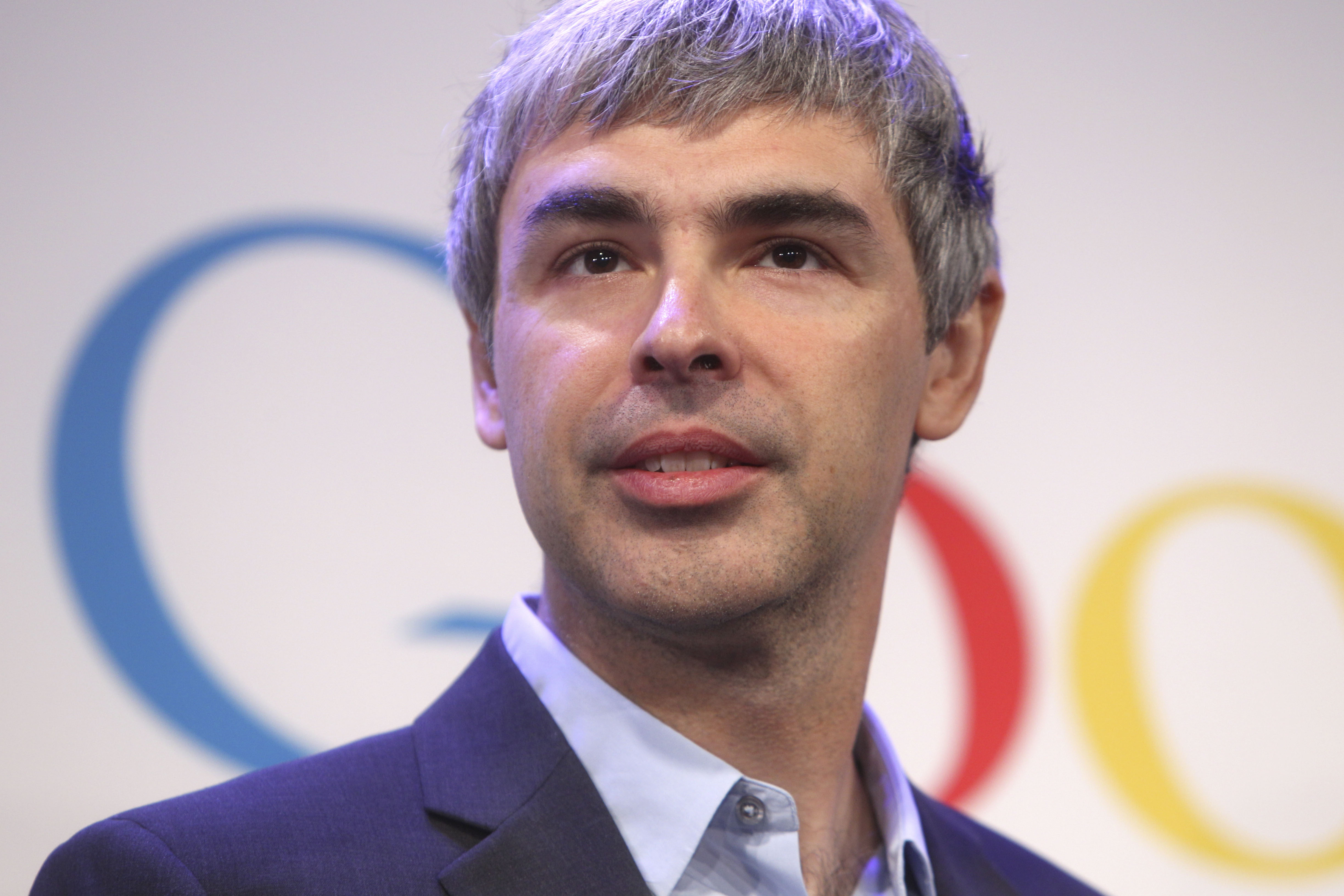Google CEO Larry Page speaks at a news conference at the Google offices in New York, Monday, May 21, 2012. (AP Photo/Seth Wenig)