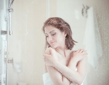 mandi air hangat dengan water heater