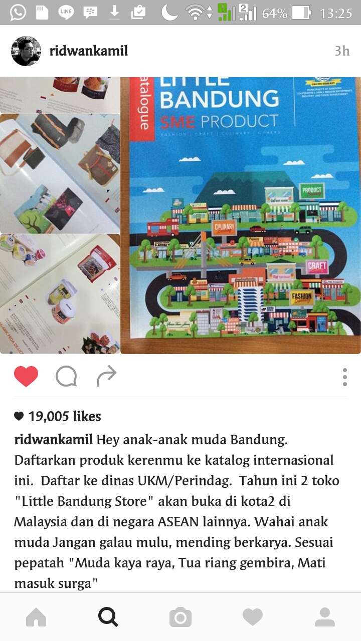 Screenshot Instagram Ridwan Kamil
