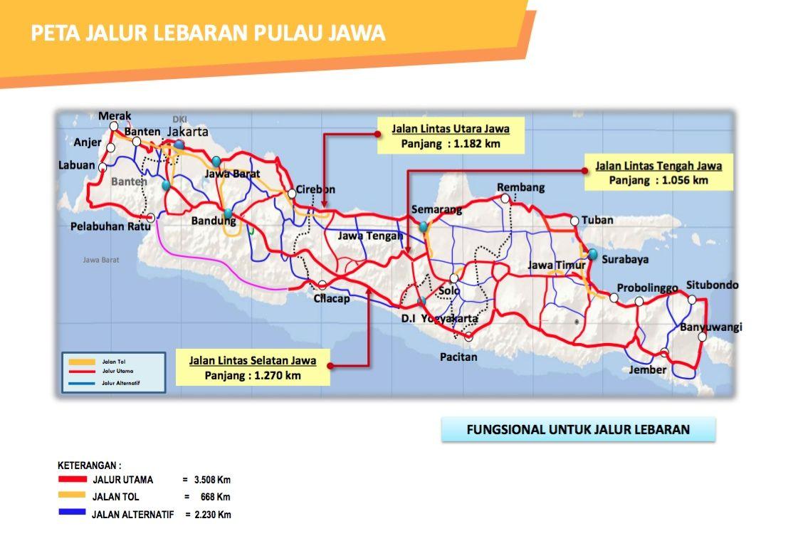 Ini Jalur Tol di Pulau Jawa yang siap Dipakai Pemudik ...
