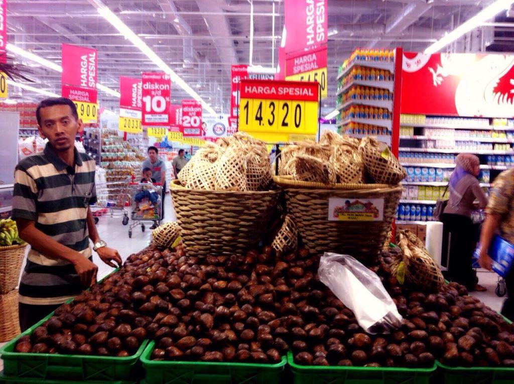 Foto: Salak pondoh di pasar ritel modern/Dok: pribadi