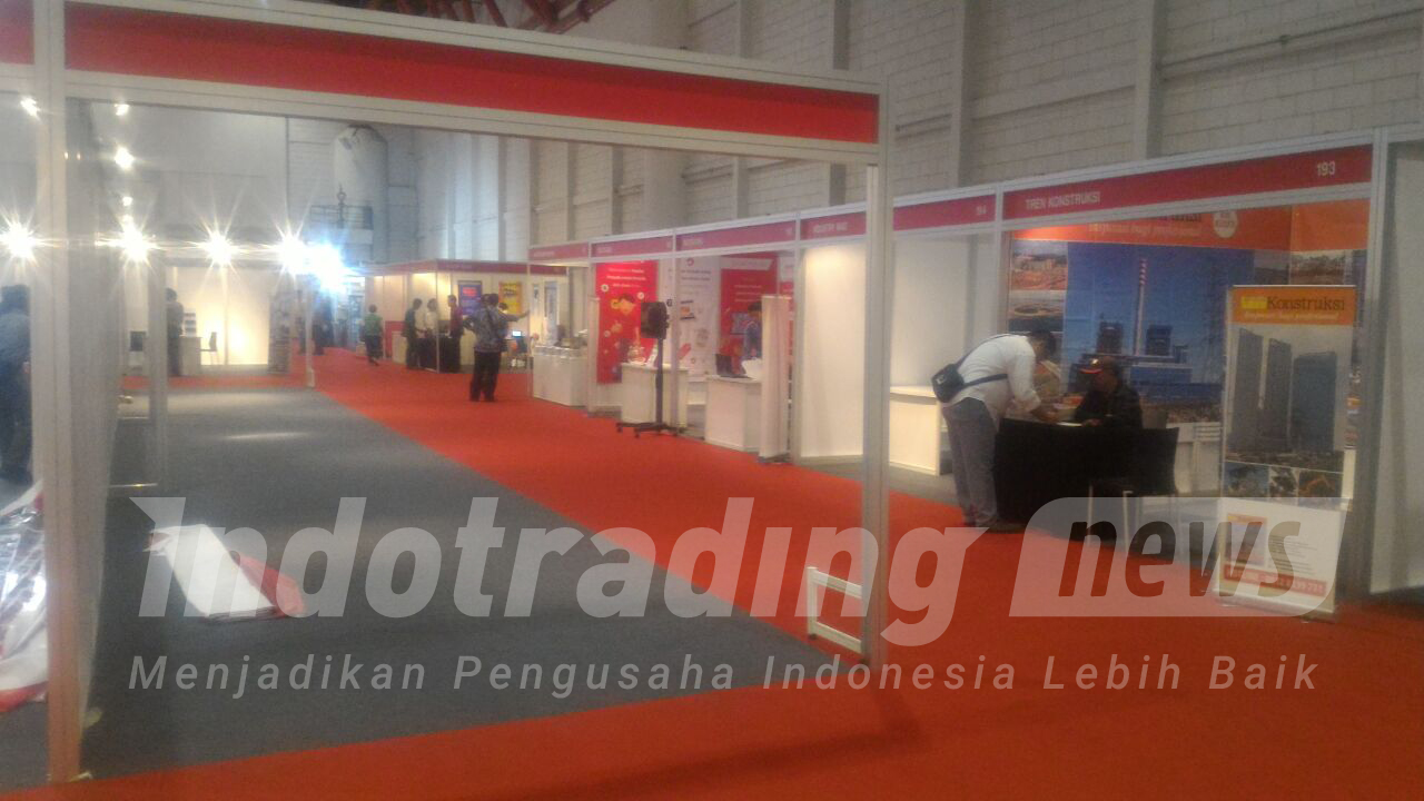Foto: Booth indotrading.com di Steel Indonesia Expo 2016/Dok: indotrading.com